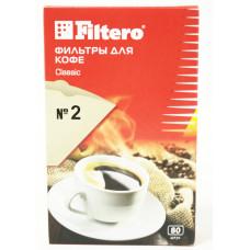 Одноразовые бумажные фильтры для кофе 80 шт. 2/80