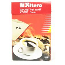 Одноразовые бумажные фильтры для кофе 80 шт. 4/80