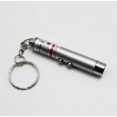 Фонарик-брелок+лазер T360