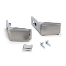 Кронштейн крепления ручки двери (2шт, серебро, не оригинал) холодильника Liebherr