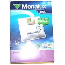 Мешки Menalux 4900, Синтетические, для пылесоса LG, 5-пылесборников + 1-моторный фильтр.